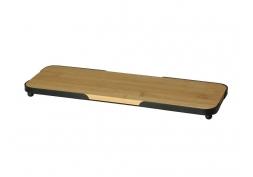 Bandeja Bamboo com moldura de metal