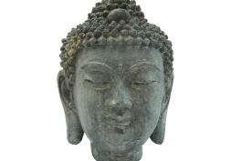 Cabeça de Buddha de Resina