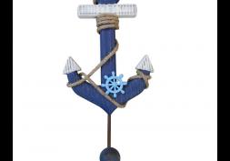 Cabideiro Âncora Azul em Madeira