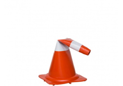 Cone de sinalização flexível refletivo NORMA 75cm