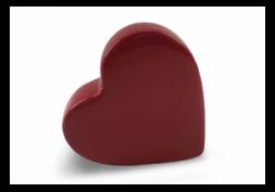 Decor Porcelana Coração