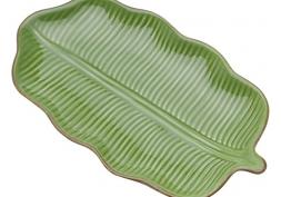 Folha Decorativa Cerâmica Banana Leaf