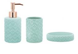 Kit Banheiro Menta em Cerâmica