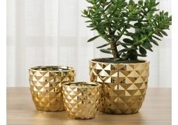Kit Cachepot Dourado