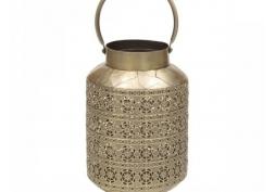 Lanterna Decorativa de Metal Dourada