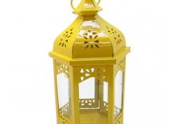 Lanterna Marroquina Metal Amarela