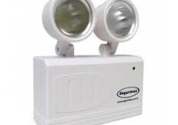 Luminária de Emergência c/ 2 Faróis LED 200 Luméns
