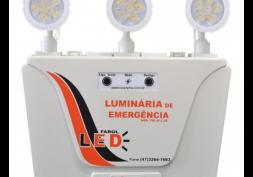 Luminária de Emergência c/ 3 Faróis LED