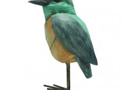 Pássaro Decorativo Resina e Metal