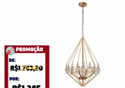 Pendente Crystal Gold P