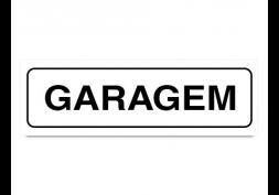 Placa garagem - 19x6cm sem número