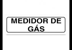 Placa medidor de gás 19x6cm