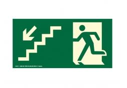 Placa Saída de Emergência Escada Esquerda 20x30cm
