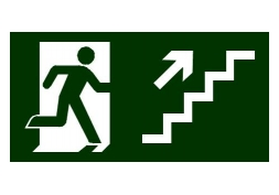 Placa Saída de Emergência Escada Direita 20x30cm