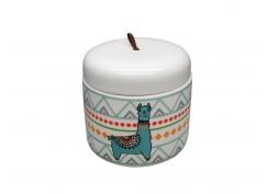 Pote Cerâmica Decorativo Lhama