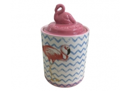 Pote Cerâmica Decorativo Flamingo