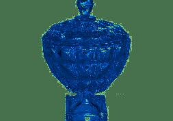 Potiche Decorativo Cristal Diamant Azul