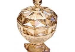 Potiche Decorativo Cristal Diamant Âmbar
