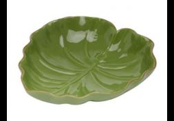 Prato Decorativo Cerâmica Banana Leaf
