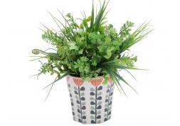 Vaso Cerâmica Scandinavian Flowers