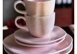 Xícara com Pires Pink Sand Oxford